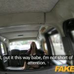 FakeTaxi Woman with glasses and big tits