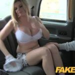 Pretend Taxi Busty television star will get a sticky facial
