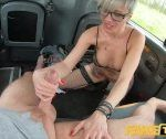 Pretend Taxi Tattooed busty milf Tanya Virago drains cabbies balls