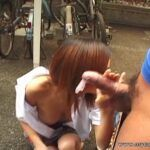Enormous tit Asian lady blowjob