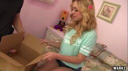 Lucy Tyler Enjoys A Dick In A Box From Her Man On Her Birthda HD