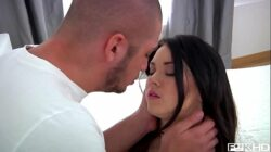 Gorgeous teen Sheron gets her face stuffed with big hard cock until he cums